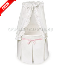 Колыбель Shapito by Giovanni Solo White Pink NEW! + ПЛЕД В ПОДАРОК!